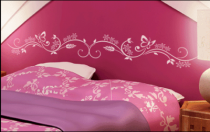 Le stickers fresque papillons et fleur pour une décoration pleine de douceur