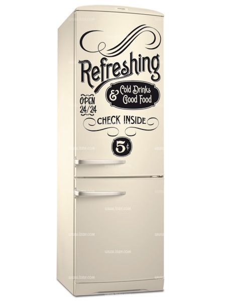 stickers frigo old refreshing. Black Bedroom Furniture Sets. Home Design Ideas
