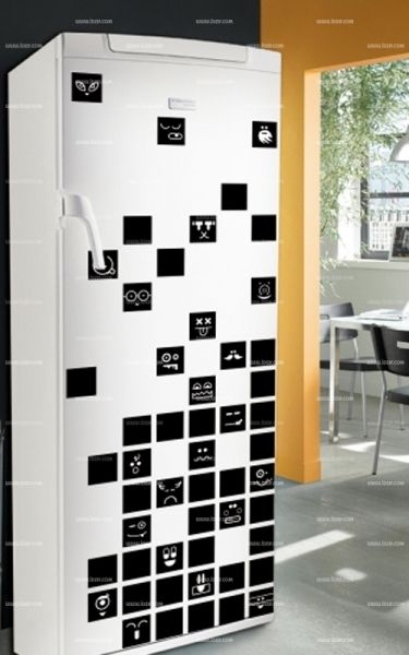 Stickers frigo : Cube.