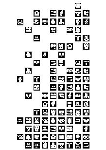 Stickers frigo : Cubes.