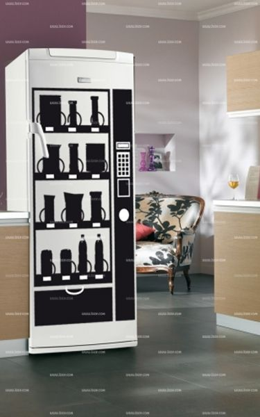 stickers frigo distributeur. Black Bedroom Furniture Sets. Home Design Ideas