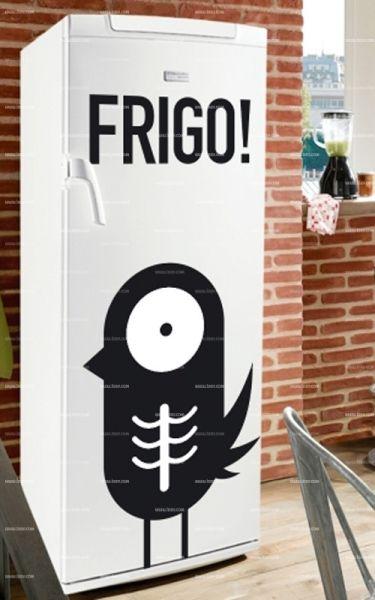 Stickers frigo : Oiseau.