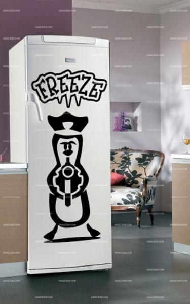 Stickers frigo : Pingouin.