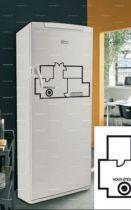 Stickers frigo : plan de maison.