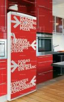 Stickers frigo: Texte arrow.