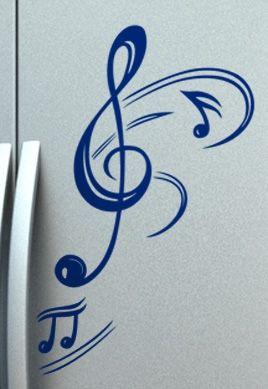 Stickers frigo américain musique