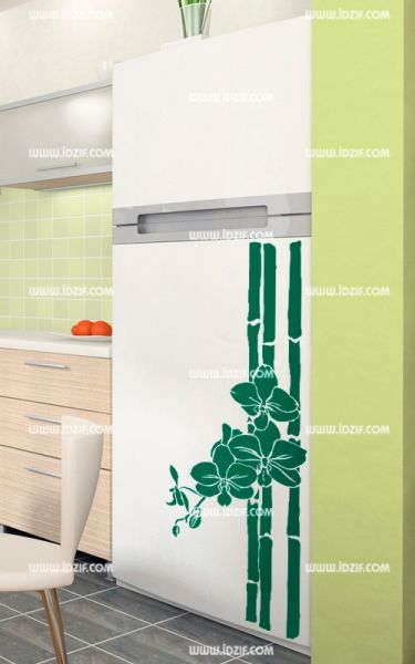Stickers frigo bambou