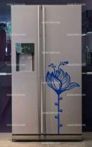 Stickers frigo fleur