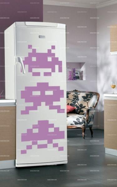 stickers frigo jeu video