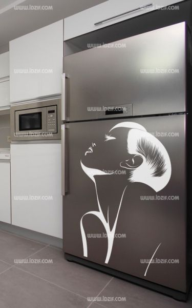 stickers frigo large. Black Bedroom Furniture Sets. Home Design Ideas