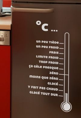 stickers refrigerateur temperature