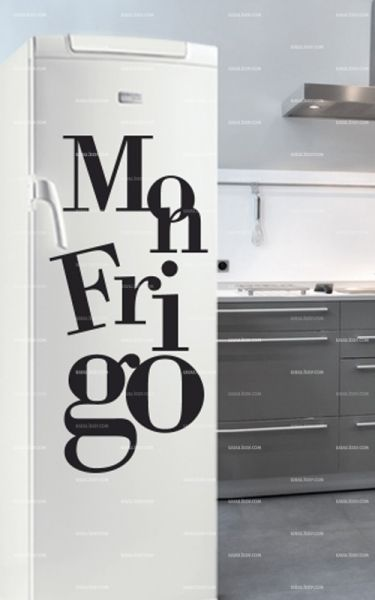 sticker frigo texte mon frigo. Black Bedroom Furniture Sets. Home Design Ideas
