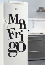 stickers frigo texte