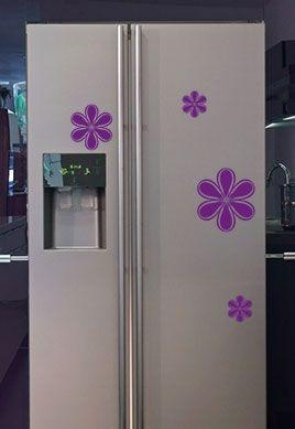 Stickers frigo pétales