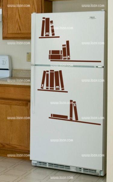 Stickers trompe l'oeil pour frigo