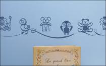 Le stickers Enfant frise animaux cartoon pour décorer une chambre d\'enfant