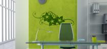Le stickers frise florale murale pour une déco nature
