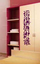 """Sticker \""""fresque\"""" découpé à la forme dans vinyle de couleur unie. Ce visuel habillera vos murs de manières originale. Création MALTIN"""