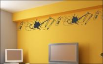Le stickers frise street art pour décorer une chambre d\'enfant