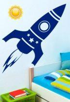Stickers fusée spatiale