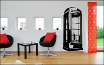 Le stickers géant cabine téléphonique pour décorer en grand format
