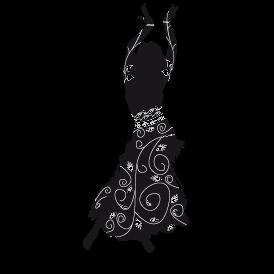 Le stickers géant danseuse d\'orient en noir pour une décoration exotique