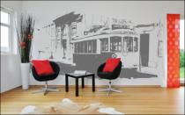 Le stickers géant tramway pour décorer en grand format