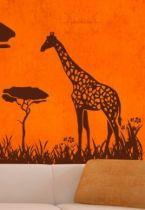 stickers muraux girafes