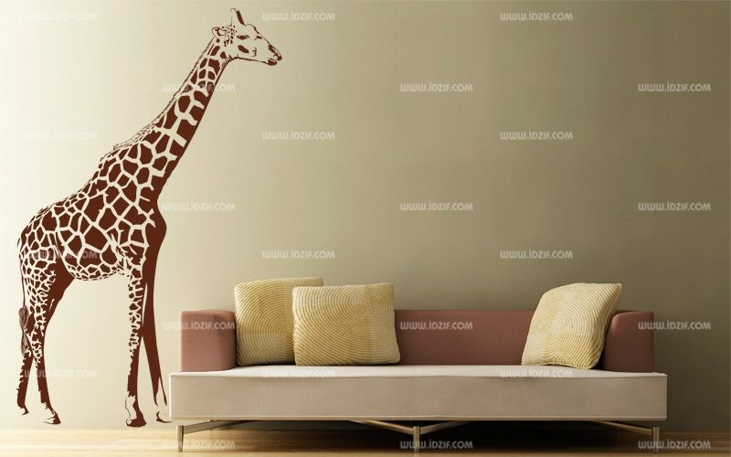 stickers girafe murale