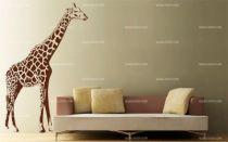 stickers girafe murale