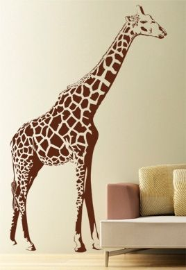 stickers girafe geant