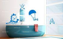 Stickers goutte d\'eau en parachute