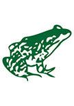 stickers grenouille découpée à la forme dans vinyle de couleur unie.