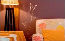 Le stickers groupe de papillons pour une décoration pleine de douceur