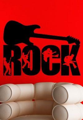 stickers muraux guitare