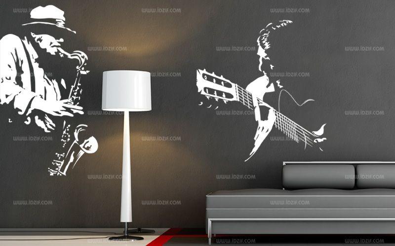 stickers muraux guitare classique