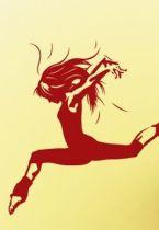 Stickers gymnaste saut