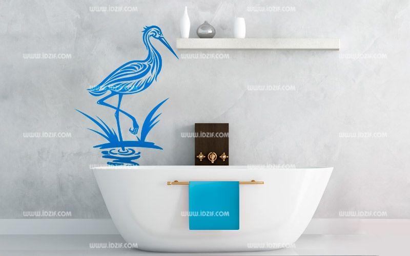 Stickers héron dans l\'eau