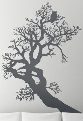 Stickers hibou dans arbre