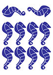 stickers hippocampes