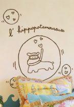Stickers hippopotamoureux