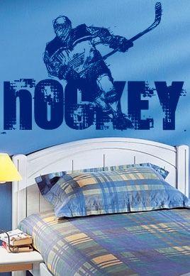 stickers muraux hockeyeur