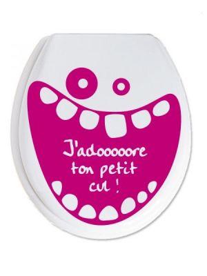 Stickers wc j 39 adore ton petit cul - Groland un grand coup dans ton cul ...