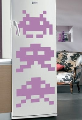 stickers jeu video space invaders