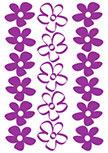 Stickers jolies fleurs découpés à la forme dans vinyle de couleur unie. Planche de 17 stickers Fleurs.