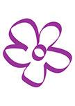 Sticker jolie fleur découpée à la forme dans vinyle de couleur unie.