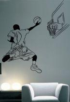 stickers panier et basketteur