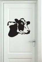 stickers œilleton de porte vache