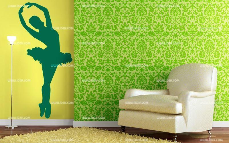 stickers mural danseuse classique en tutu