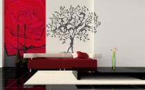 Le stickers l\'homme et l\'arbre pour décorer l\'intérieur sur le thème de la nature